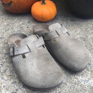 Birkenstock Boston Soft Footbed Suede Leather 6.5M